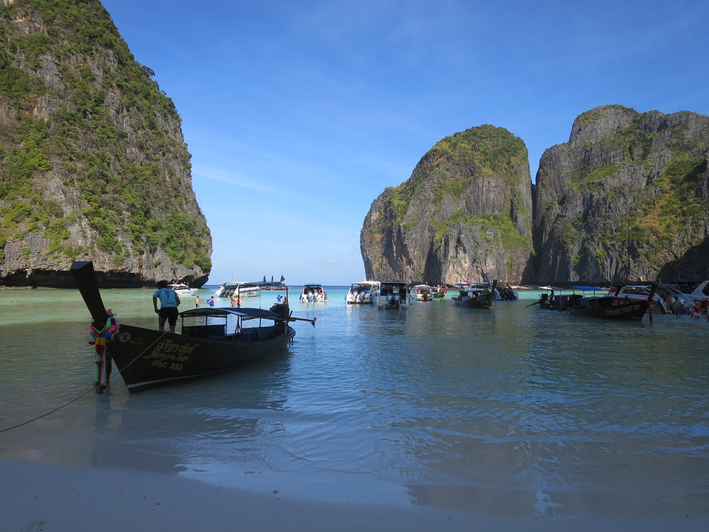 The lagoon at Maya Beach
