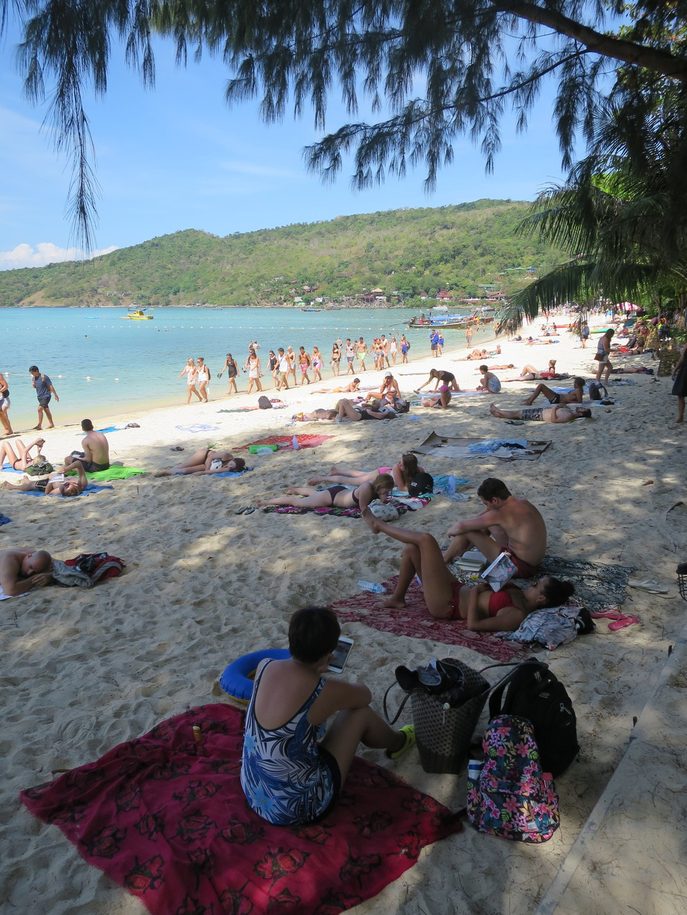The beach on Phi Phi Don