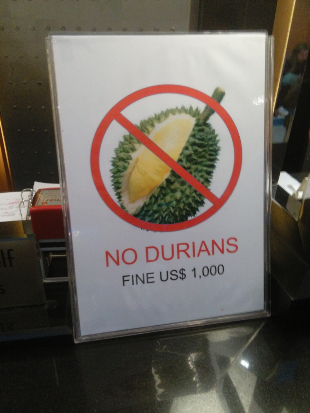 Durian Warning