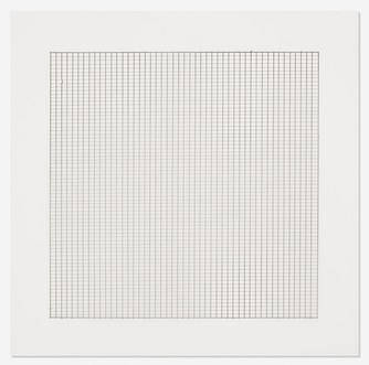 Agnes Martin, Untitled # 5, lithograph on vellum, 1990
