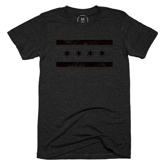 Only 9 days left to get your murdered out Chicago flag t-shirt. Link in bio!!! #chicago #fashion #style #chi #chitown #fresh #freshthreads #clean #blackout #murderedout #cottonbureau #screenprinting #tshirt #blackonblack #design #graphicdesign #graphic #vector