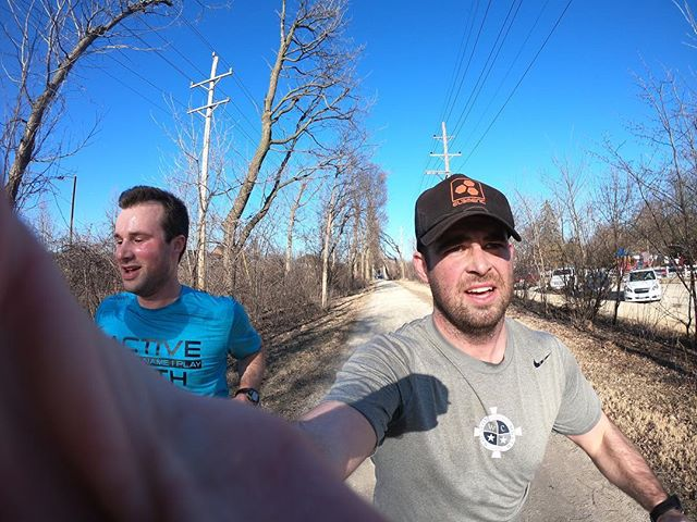 Out with my man Matt for a quick run to celebrate the nice weather. #run #funrun #bluesky #goodtimes #friendship #runitout #prairiepath #gopro #hero6