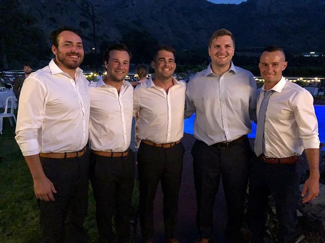 It is such an honor to be a part of this group of men and support our boy Nathan Jasperse as he starts a journey with an amazing women, @essence_florie. #909 #909reunited #friends #happilyeverjasperse #wedding #goodtimes #california