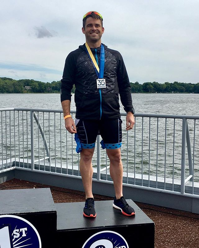 Had a great time at the Reeds Lake Triathlon. It was nice to see the age group podium today and rep my club @endureitsports. Big shout out to my support crew this weekend @epiphanyjoy11 making the trip as easy as possible. #tri #trithlon #grandrapids #swim #bike #run #endureit
