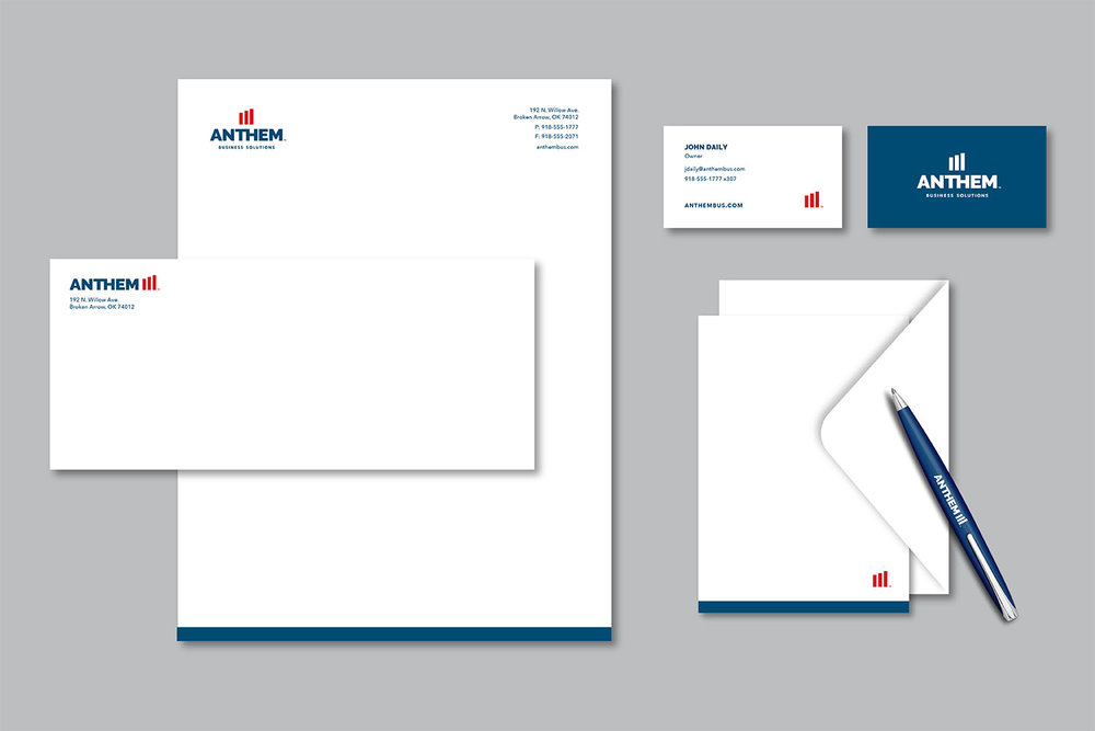 Corporate identity for Anthem Business Solutions.