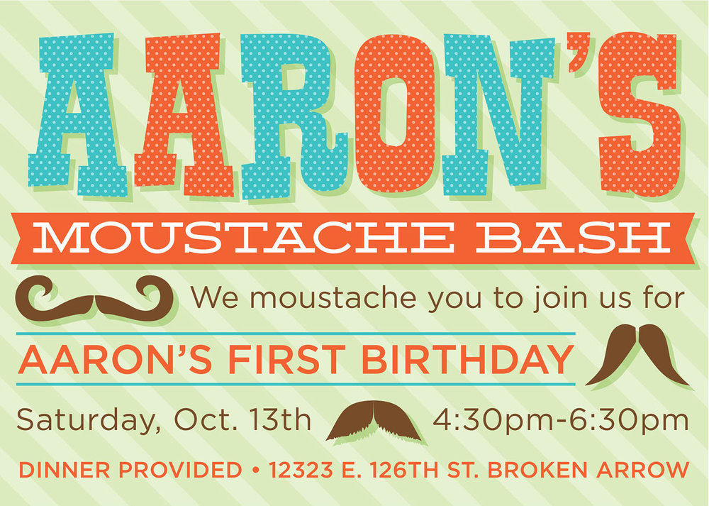 Custom 1st Birthday Bash Invite