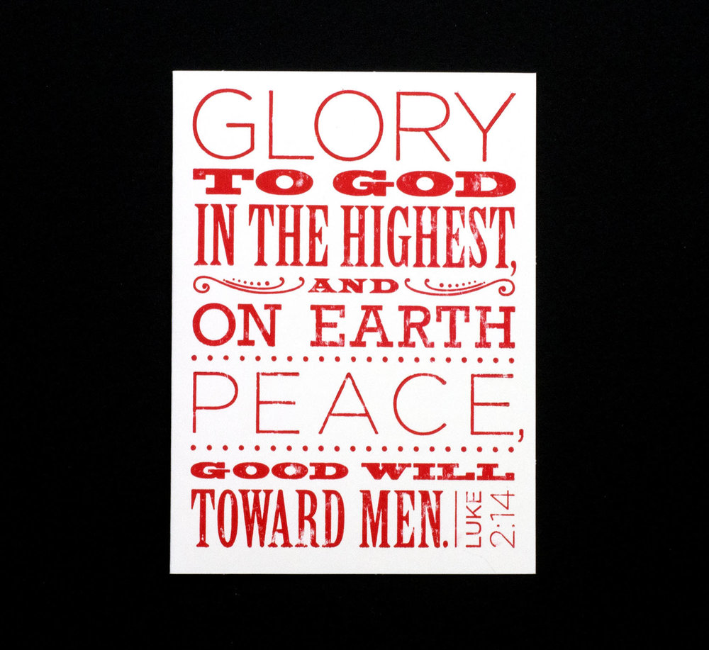 Letterpresses Christmas Card