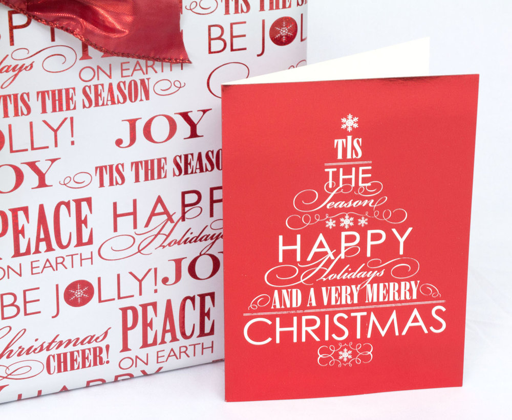 Christmas paper goods line