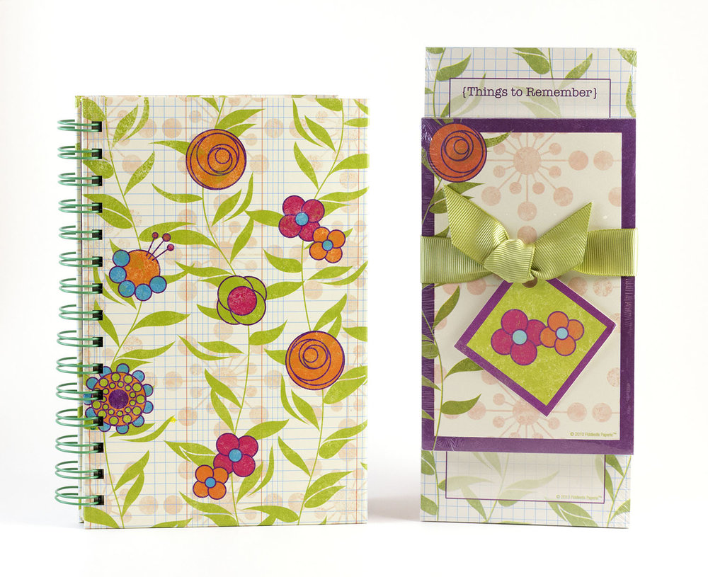 Modern Geo Flower Journal & Notepad