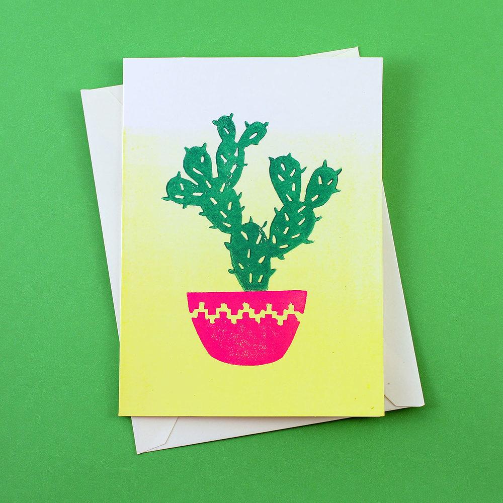 Block Printed Greeting Card