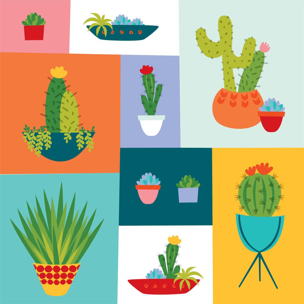 Urban Cactus Illustration