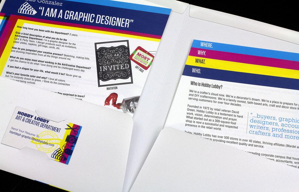 Recruitment Kit for Hobby Lobby Art Department