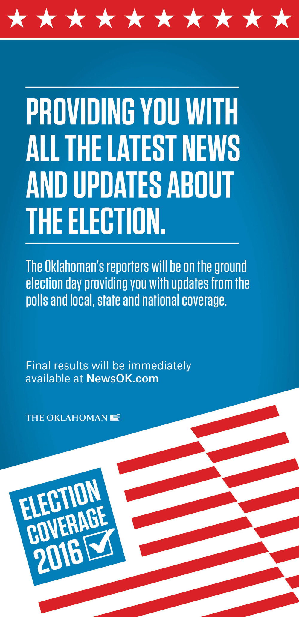 Election Coverage Advertisement for the Oklahoman
