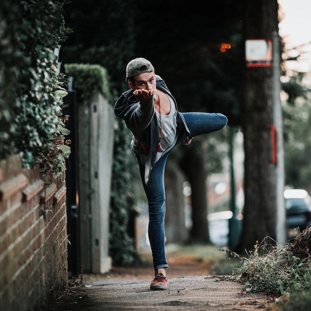 Dan Morgan | Dan Morgan Yoga | Yoga | Half-Moon