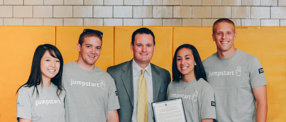 Jumpstart's  Read for the Record Day  with Mayor Luke Ravenstahl. October 2012.