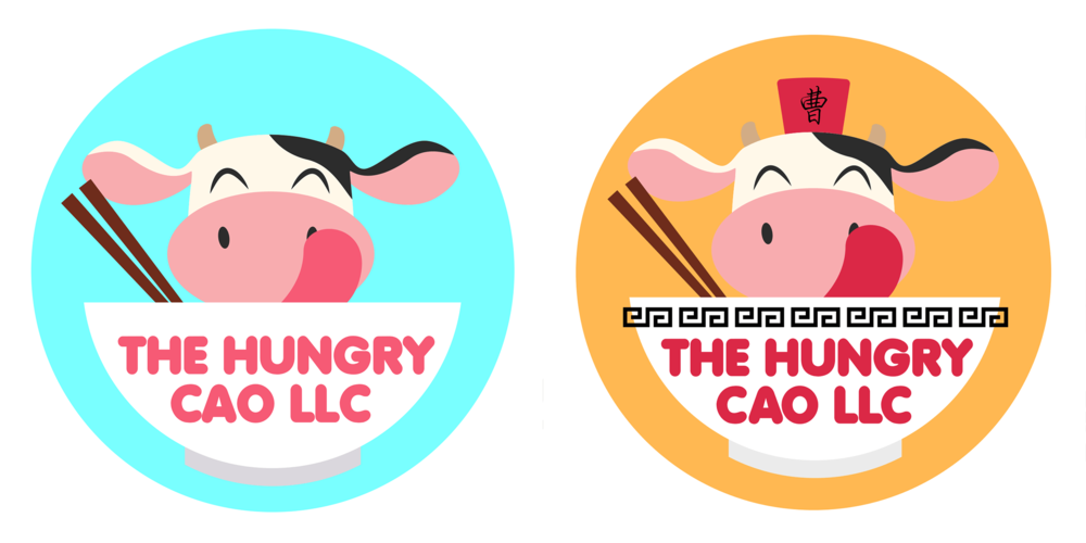 drafts of kawaii cow logo