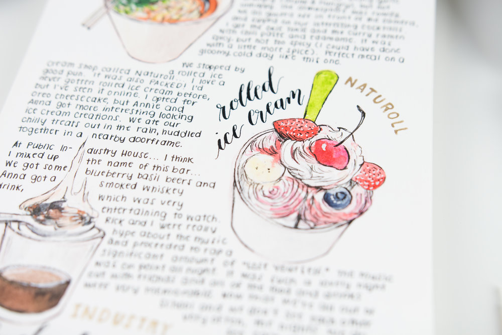 Art Journal — #DrawMyDay by Sarica Studio