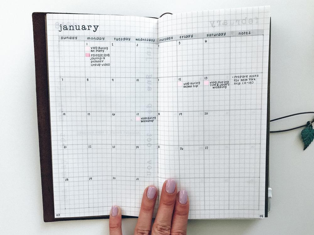 my 2018 planner journal setup sarica studio