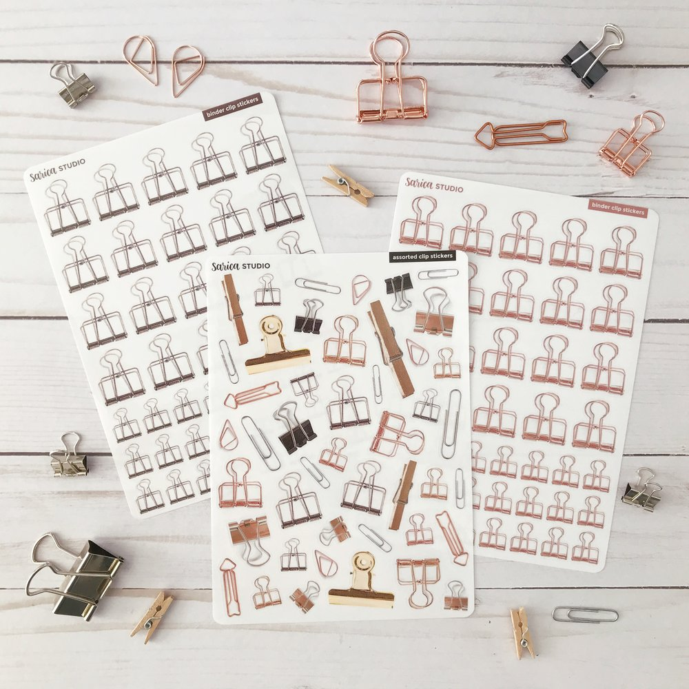 binder clip stickers