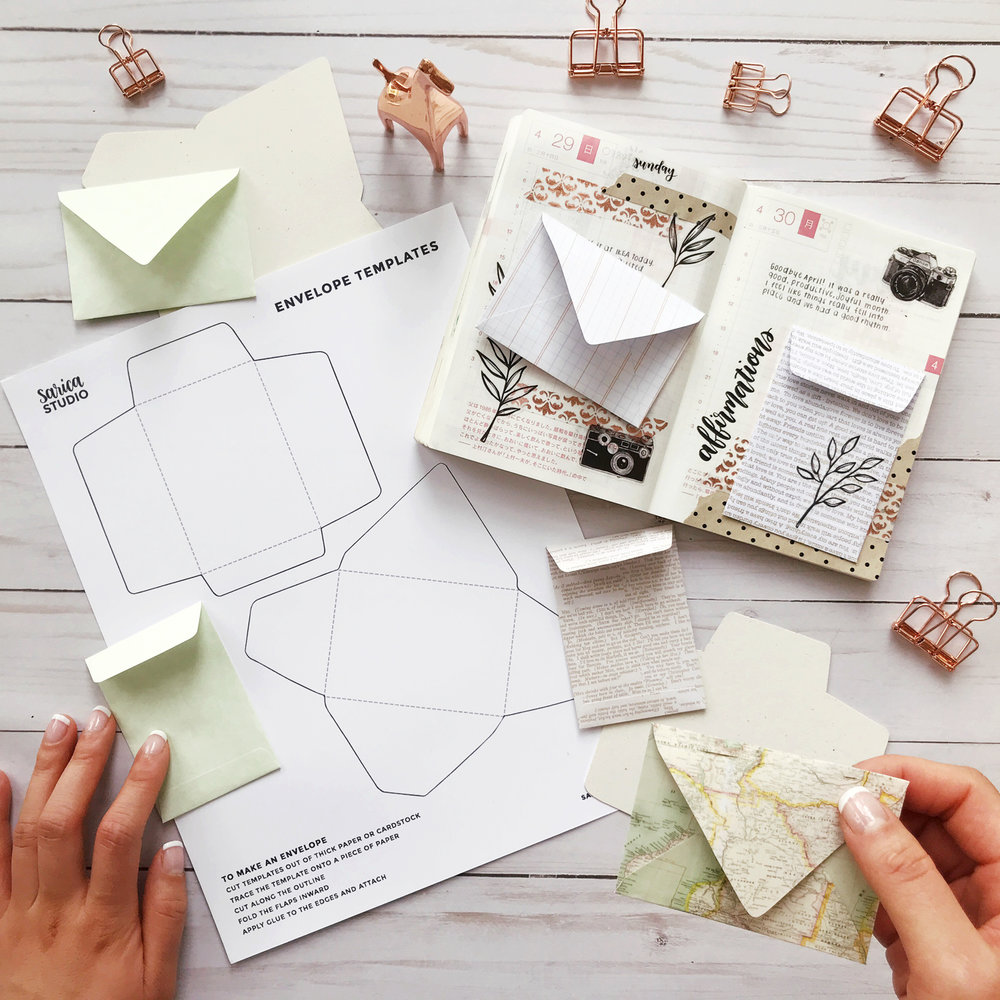 free mini envelope templates sarica studio