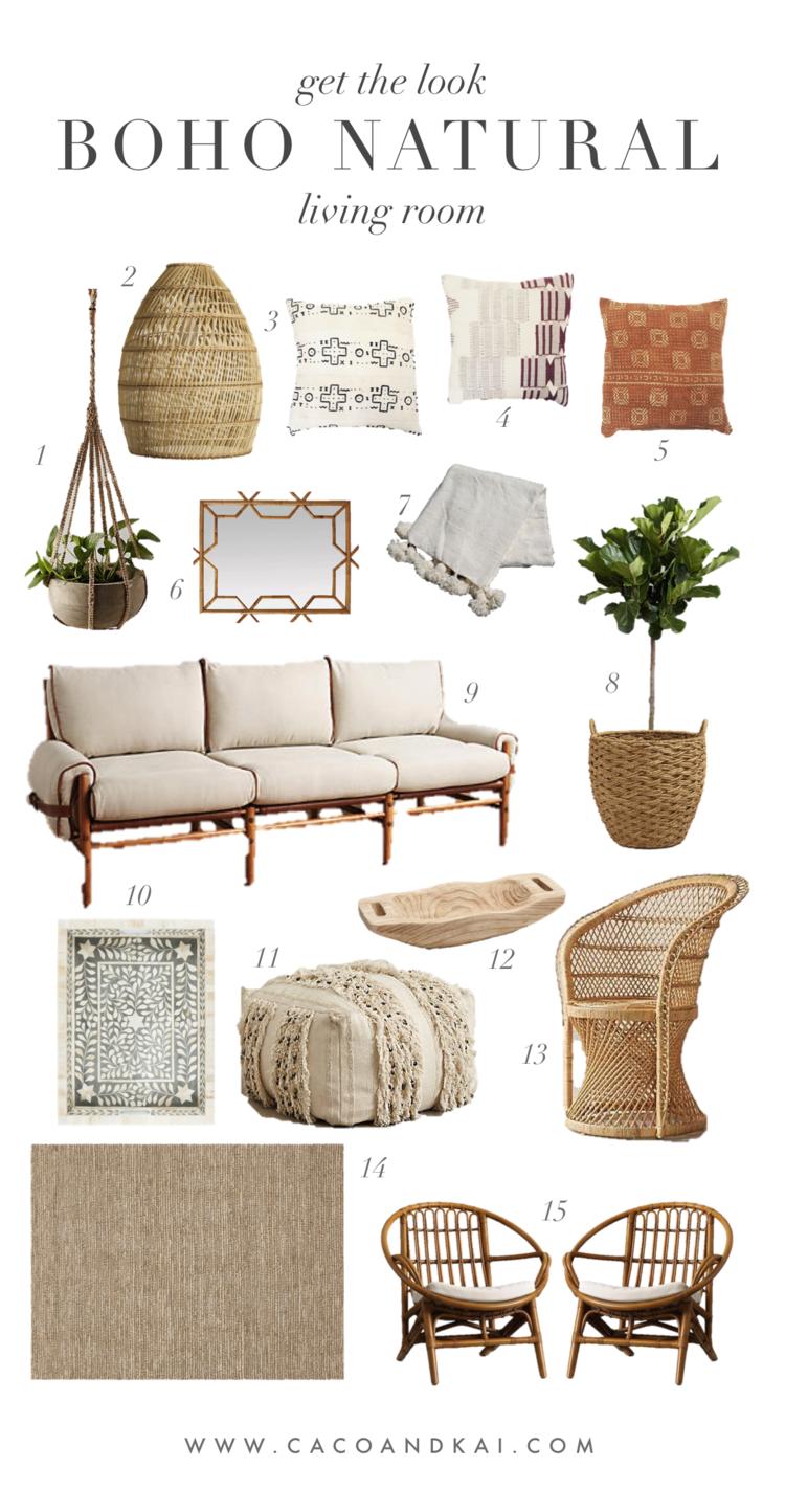 Get the look: Boho Natural Living Room — CACO & KAI