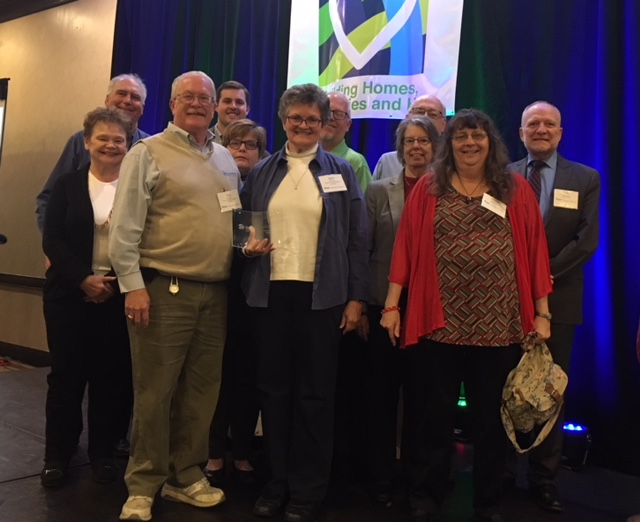 Chas and Beth Myers (front-center) with other affiliate friends, staff, and board members.