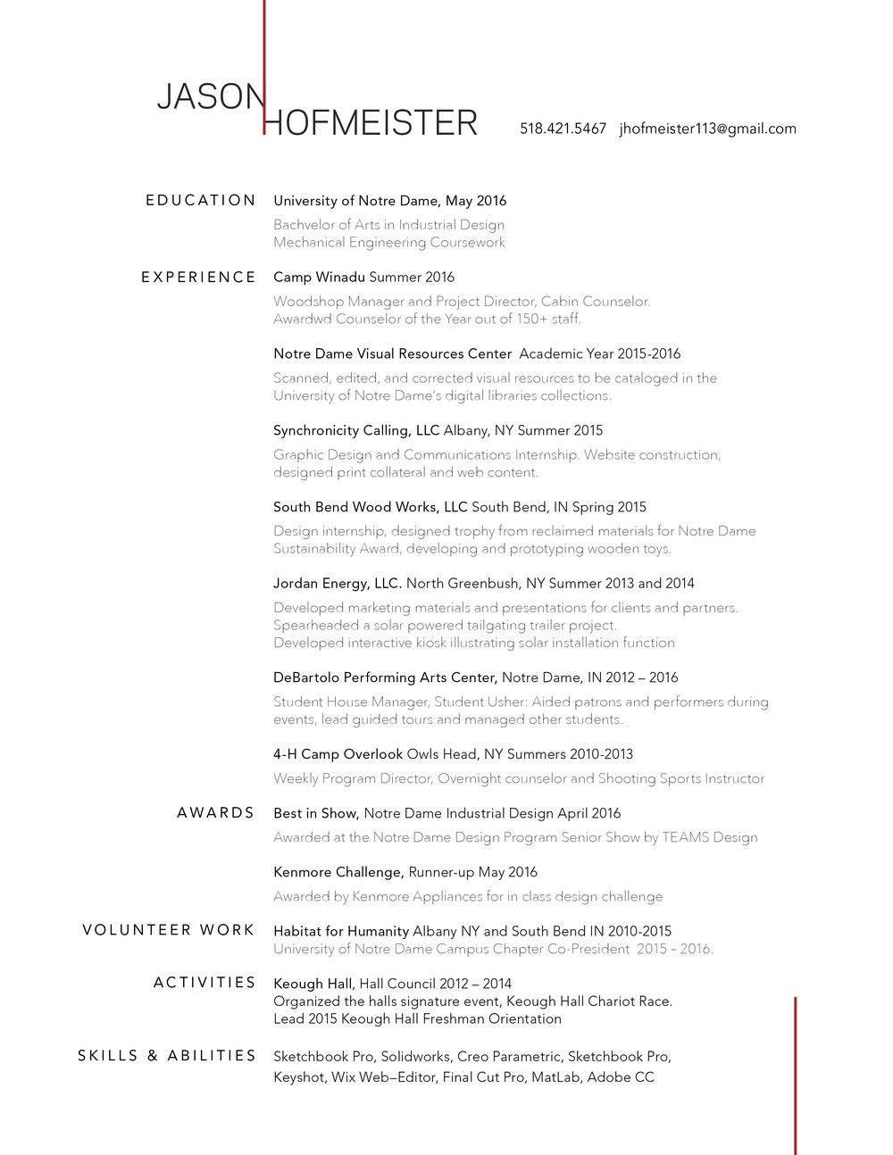 resume jason hofmeister design portfolio