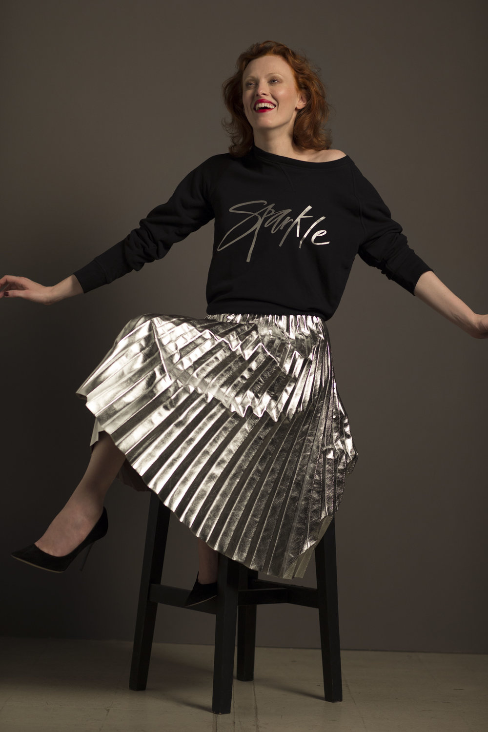 Karen Elson Lends Her Support To Christmas Jumper Day (Picture by Greg Williams)