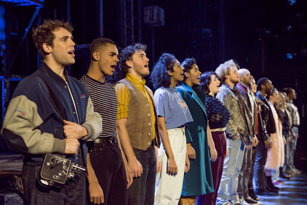 The cast of Rent: Photo by Matt Crockett
