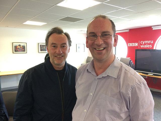 Andy Howells meets Jonathan Nefydd aka Colin Evans in Pobol y Cwm