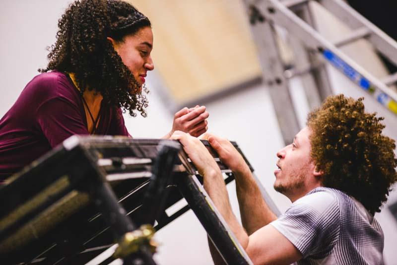 Connor Allen and Aamira Challenger in Omidaze Productions Romeo and Juliet. Picture: Kirsten McTernan