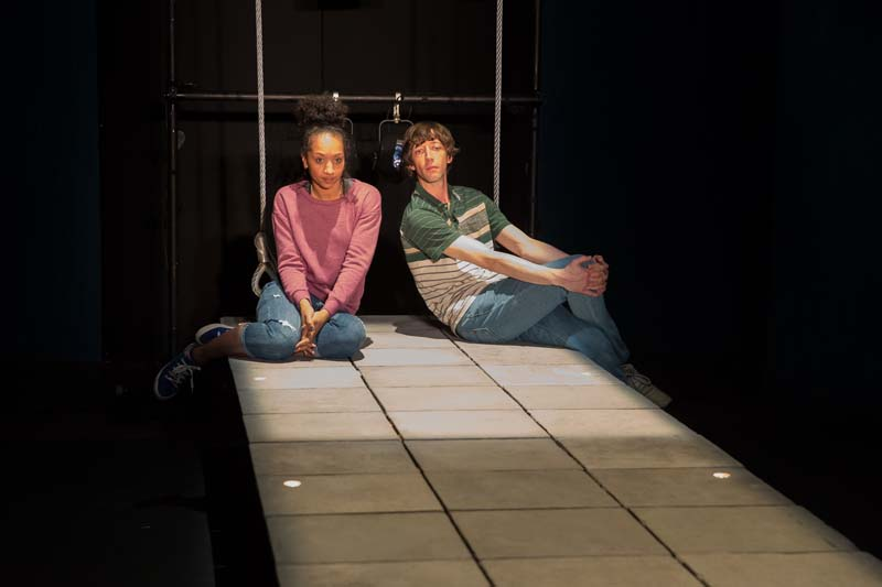 Rhodri Mellir and Alexandria Riley in How My Light Is Spent