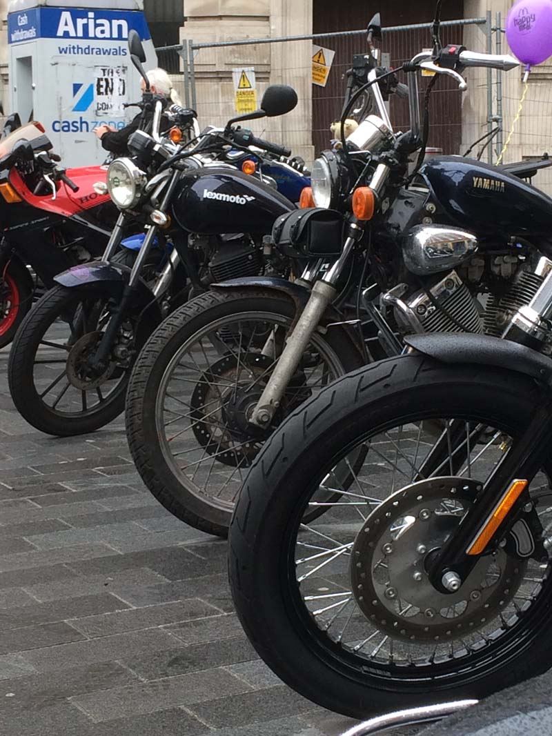 A classic selection of Motorcycles on display at Newport festival of Classics