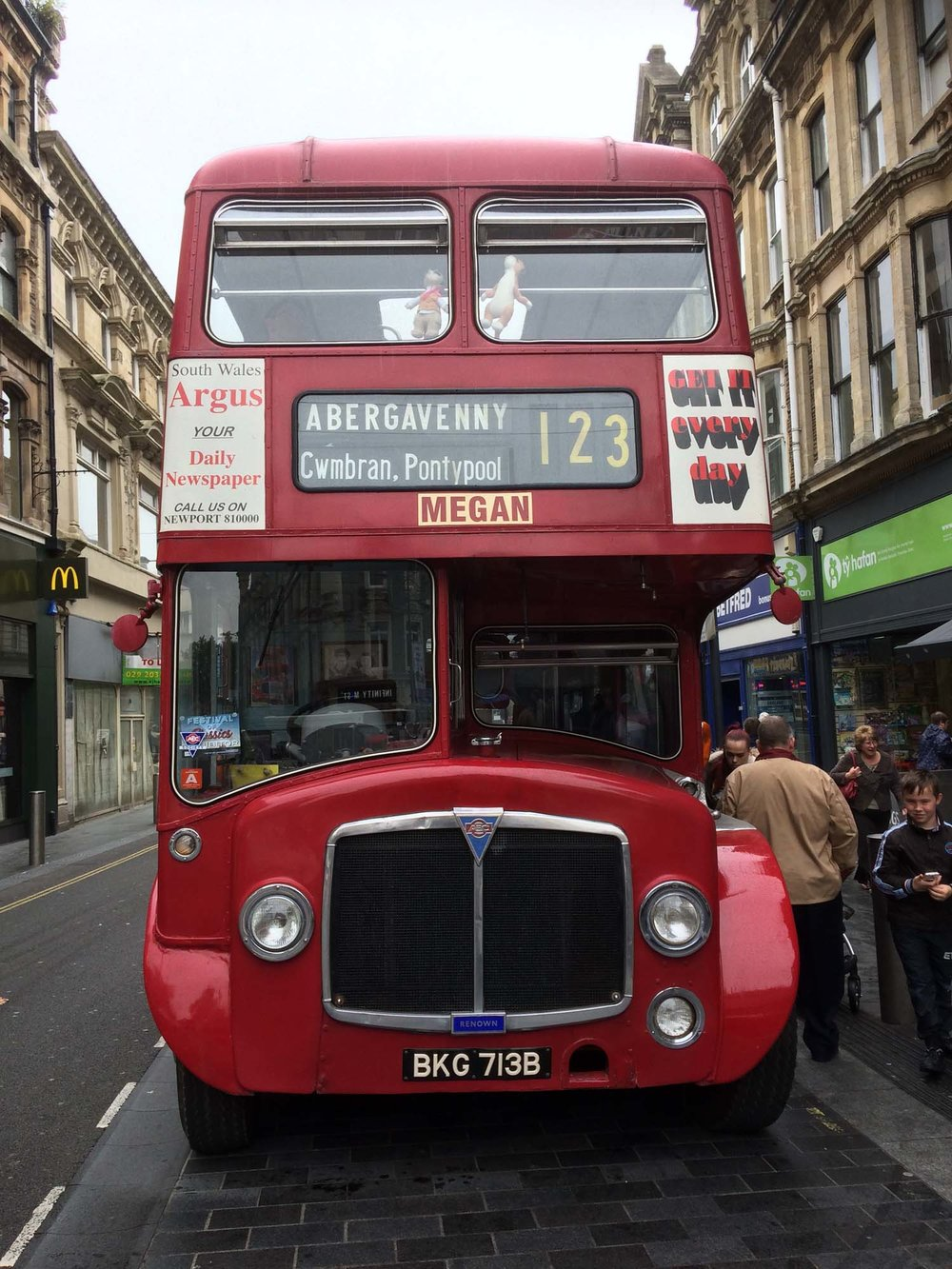 A vintage bus was a popular attraction at Newport Festival Of Classics