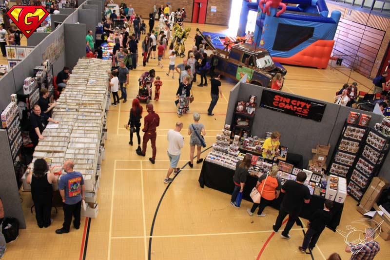 Stalls and traders taking part in last years Geekedfest 2016 event