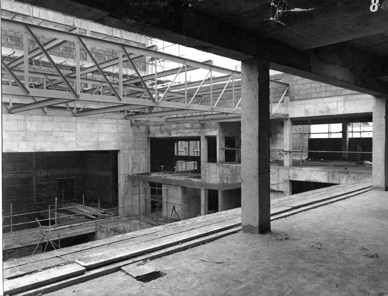 Newport's Dolman Theatre under construction in the 1960s Photo: Dolman Theatre Archive