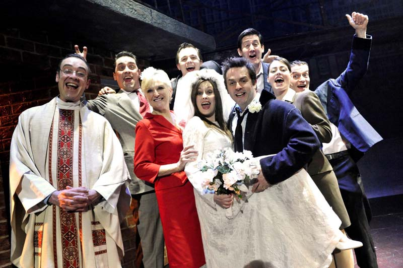 Lyn Paul (third from left) will reprise her role of Mrs Johnstone when Blood Brothers visits Cardiff's New Theatre.