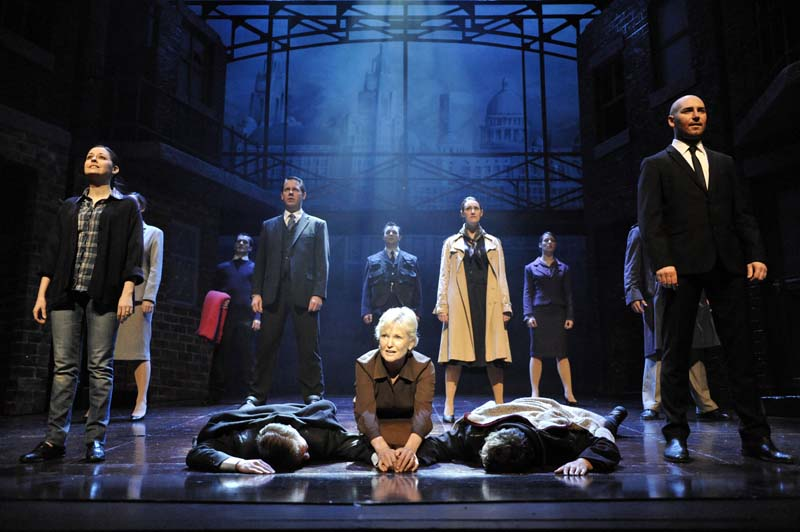 A previous cast production of Blood Brothers featuring Lyn Paul. The touring production will celebrate thrty years when the 2017 tour plays Cardiff's New Theatre for the tenth time.
