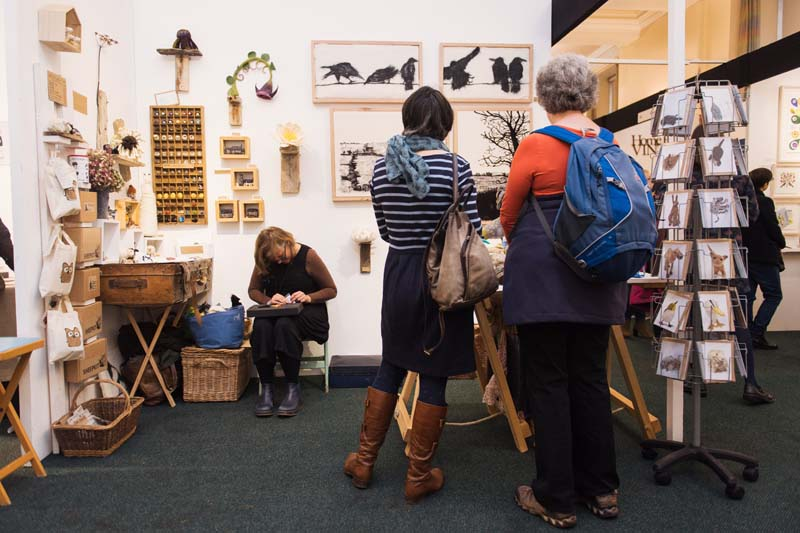 The Ruth Packham Stand at Made By Hand Craft Fair.