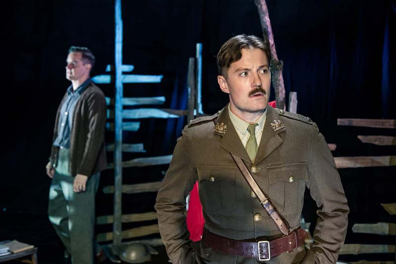 Daniel Llewellyn-Williams and Iestyn Arwel toured in Flying Bridge Theatre Company's production of Not About Heroes.