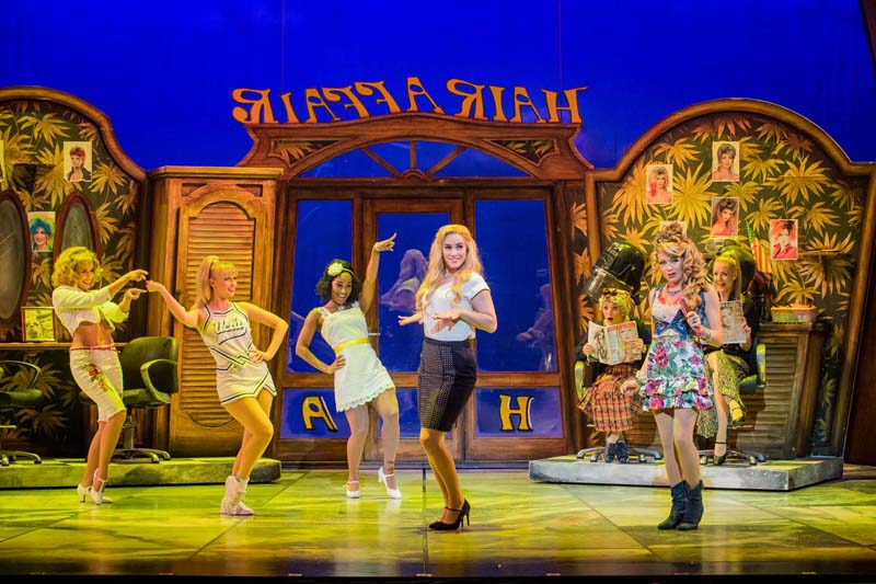 Lucie Jones was back on stage in  Cardiff in the stage adaptation of   Legally Blonde