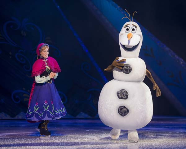 Characters from Frozen come to life in Disney on Ice's 2018 extravaganza, World's of Enchantment., coming to Cardiff Motorpoint Arena in April, 2018.