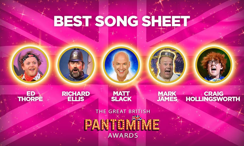 Actor Richard Elis has been nominated for the Best Songsheet for Aladdin in The Great British Pantomime Awards