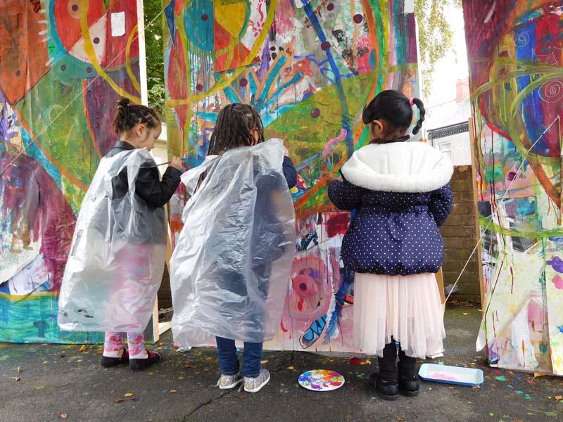 Inviting The Neighbours Around to Paint Maindee Photo Marega Palser