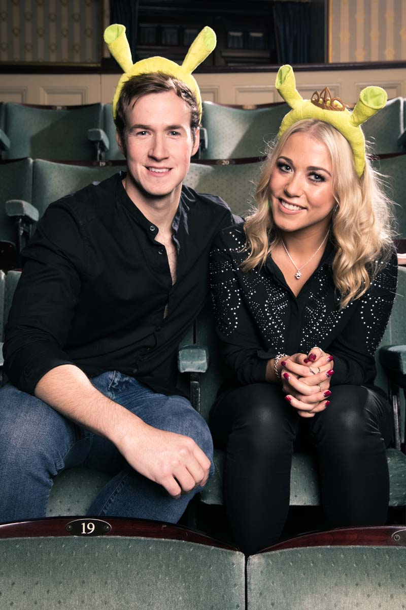 Steffan Harri and Amelia Lily will take to the stage of Bristol Hippodrome in  Shrek The Musical  between August 8 - 19.