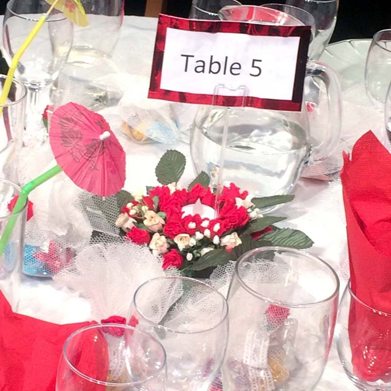 Table 5, Solman Theatre Studio, March, 2018