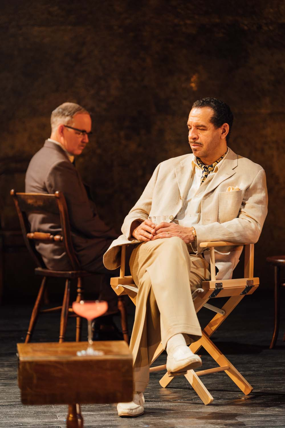Colin R Campbell and Joe Dixon star in the Agatha Christie whodunnit, The Mirror Crack'd which runs at Cardiff's New Theatre from March 26 to April 6, 2019. Photo Helen Murray.