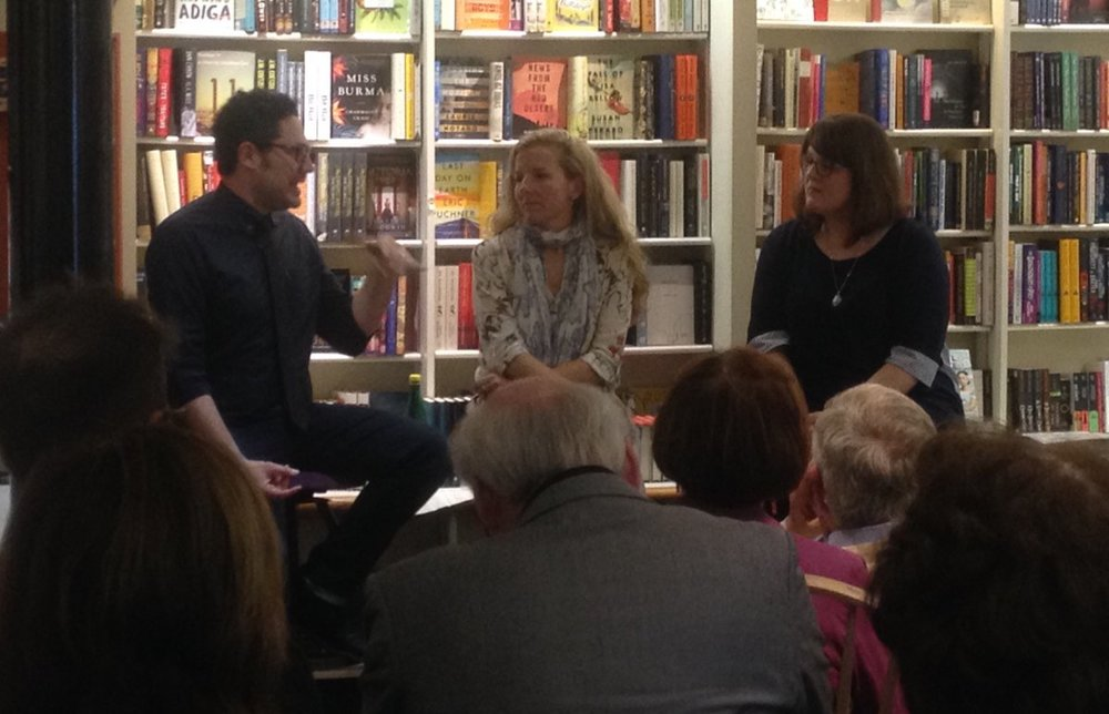 Elan Mastai and Claire Cameron in conversation with Dana Hansen at A Different Drummer Books