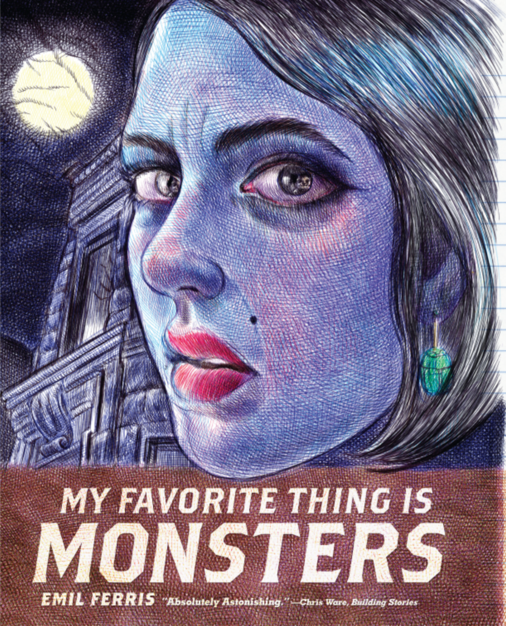 Emil Ferris. My Favourite Thing is Monsters. Fantagraphics. $52.99, 386 pp., ISBN:9781606999592