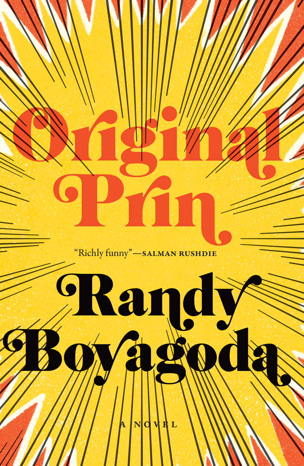 Randy Boyagoda.  Original Prin . Biblioasis. $19.95, 224 pp., ISBN: 9781771962452